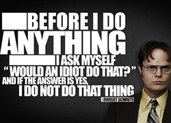 Tips for a New Job: Dwight asking questions