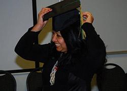 graduating student at OnlinePlus Fall 2012 graduation luncheon