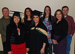 group of graduates at OnlinePlus Fall 2012 graduation luncheon