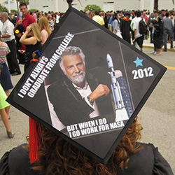 nasa decorated graduation caps