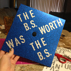 bs decorated graduation caps