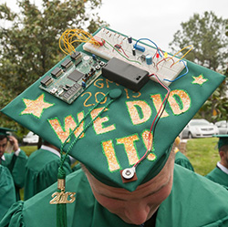engineer decorated graduation caps