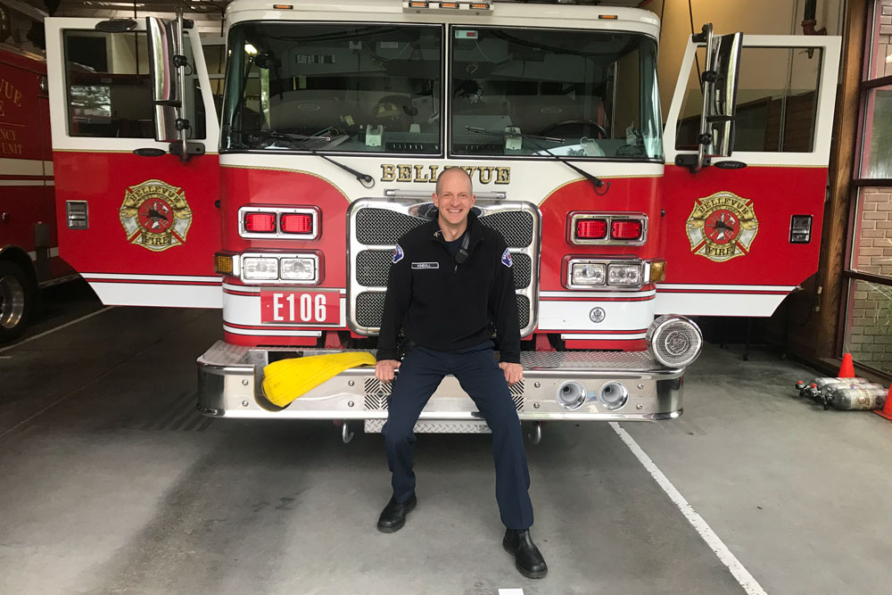 Lieutenant Charlie Kimball of the Bellevue Fire Department in Washington State CSU Online student